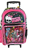 Monster High Rolling Backpack Roller Luggage School Book Bag Girls