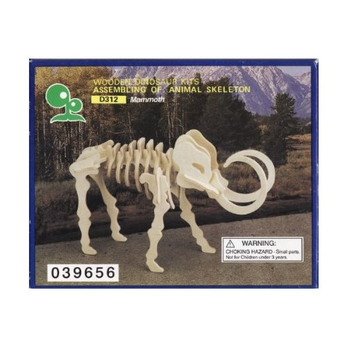 Wooden Dinosaur Kits Assembling of Animal Skeleton, Mammoth - 1