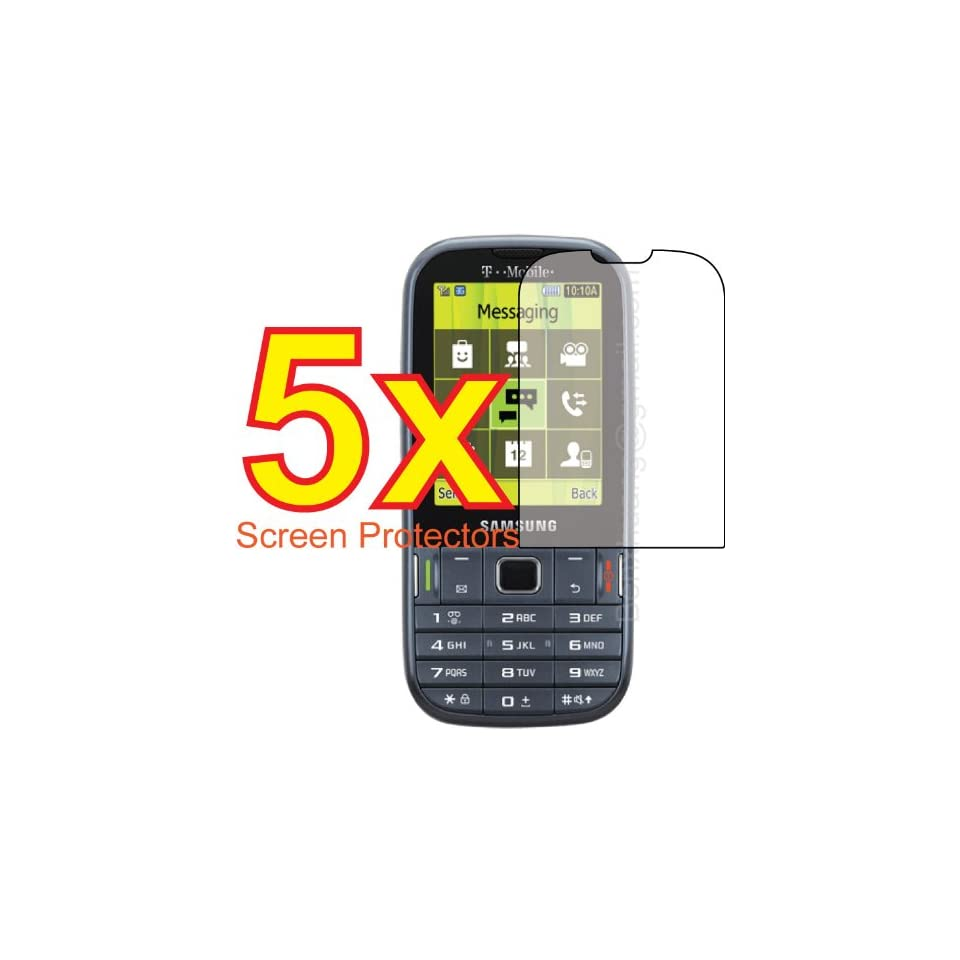 5x Samsung Gravity TXT SGH T379 Premium Clear LCD Screen Protector Cover Guard Shield Protective Film Kit (5 Pieces)