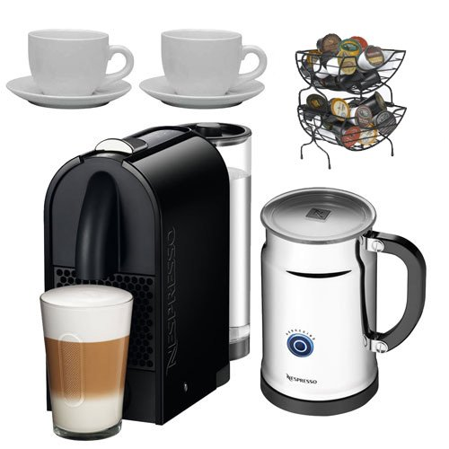 Nespresso U D50 Espresso Maker with Aeroccino Milk Frother, Nifty Single Serve Coffee Baskets ...