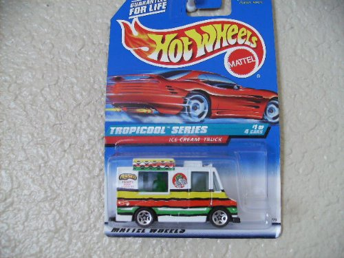 Hot Wheels Ice Cream Truck #693 1998 Tropicool Series Red Card with White Logo and Fruit Tampo