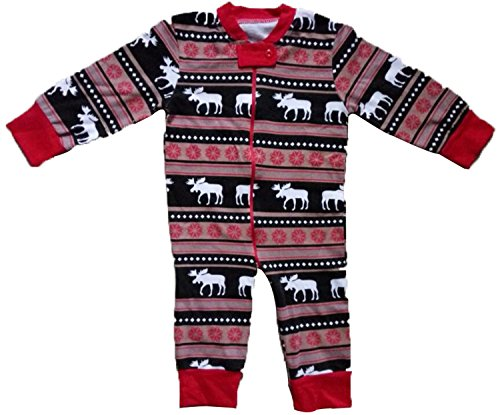 Family Matching Christmas Pajamas Set For Mom And Dad Deer Striped Sleepwear Outfits