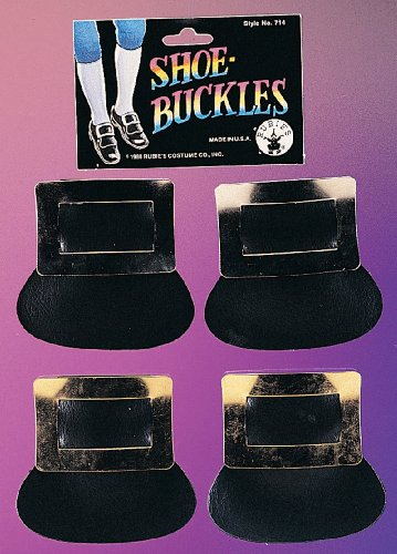 Rubie's Costume Co Colonial Shoe Buckles Costume Gold Costume