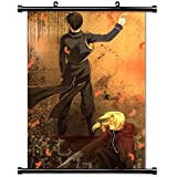 "Fullmetal Alchemist Anime Fabric Wall Scroll Poster (16"" X 22"") Inches"