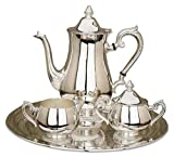 Reed & Barton Silver-plated Gadroon Silver-plated 4 Piece Coffee Set Best Deals