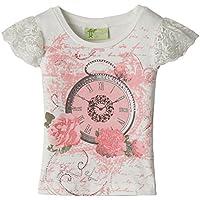 Cutecumber Girls' T-Shirt (1177A-CPink-24)