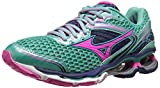 Mizuno Womens Wave Creation 17 Running Shoe, Waterfall/Electric/Blue Depths,8 M US