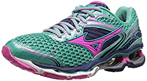 Mizuno Women's Wave Creation 17 Running Shoe, Waterfall/Electric/Blue Depths,8 M US