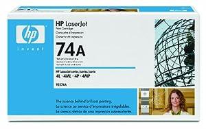 HP Laserjet 74A Black Cartridge in Retail Packaging -92274A