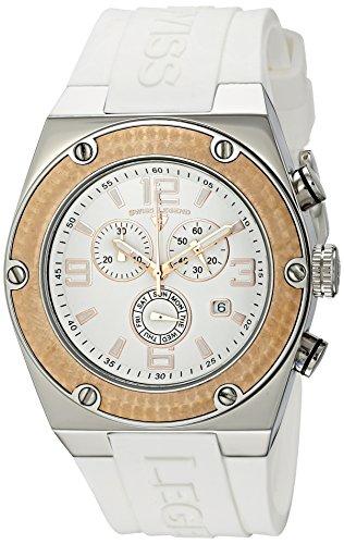 Swiss Legend Men's 30025-02-RB Throttle Chronograph White Dial Watch