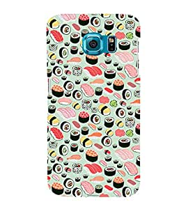 Food Pattern 3D Hard Polycarbonate Designer Back Case Cover for Samsung Galaxy S6 Edge :: Samsung Galaxy Edge G925
