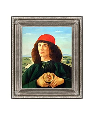 Sandro Botticelli Portrait Of A Man With The Medal Of Cosimo Reproduction Oil Painting