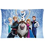 Movie Frozen Olaf Cotton and Polyester Soft Pillowcase Cover Throw Pillowslip Protector Throw kid couples Kid Pillowslip Standard Size 20x30 Two Side O-04