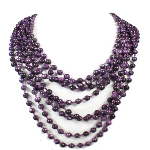 Women's Multi Layered Shell Strand Necklace