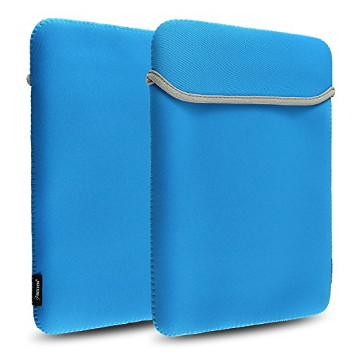 Insten Reversible Slim Soft Carry Bag Case Cover Pouch Neoprene Laptop Sleeve Compatible with AppleMacBook Pro 13-inch/ Macbook Pro with Retina Display 13 inch, Teal Blue (Macbook Pro 13 Sleeve Light Blue compare prices)