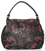 Hot Sale Iron Fist Stabby Cat Gothic Hipster Kitty Printed Vegan Hobo Handbag Purse