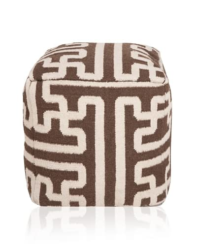 Surya Archive Pouf, Brown