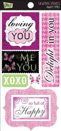 Glitz Design Audrey Cardstock Stickers: Titles