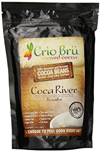 Crio Bru Ground Cocoa Beans, Coca River, 12 Ounce