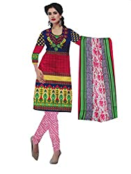 Parth Women's Cotton Unstitched Dress Material_04_Multicolored_Freesize