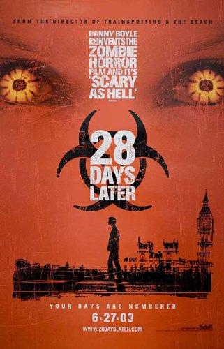 28 Days Later... 2002 Original Usa Movie Poster Danny Boyle Alex Palmer