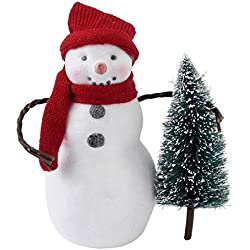 Hallmark Home Holiday Snowman Figurine with Tree, Medium