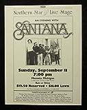 SANTANA Vintage 1983 Concert Flyer Advertisement Mecosta Michigan