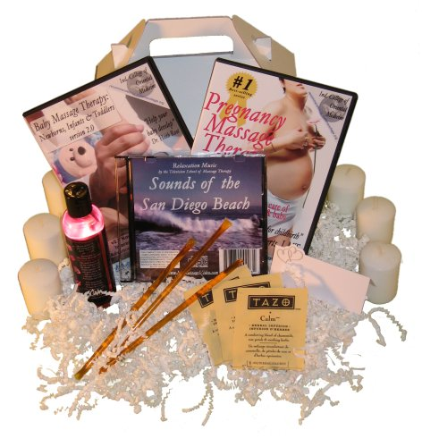 Baby Shower Massage Gift Basket: Pregnancy Massage DVD, Baby Massage DVD, Oil, Relaxation Music (2 DVD/1 Oil/1 CD)Baby Shower Massage Gift Basket: Pregnancy Massage DVD, Baby Massage DVD, Oil, Relaxation Music (2 DVD/1 Oil/1 CD)