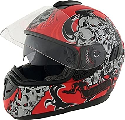 ROADSTAR integral casque future, motif zombie rotmatt