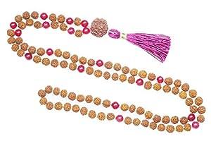 Mala Beads Coral Rudraksha Yoga Meditation Japamala Muladhara Chakra