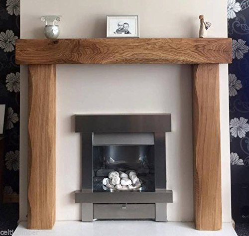 Fire place surround solid french oak beams floating shelf mantle piece inglenook finish - Fireplace mantel piece ...