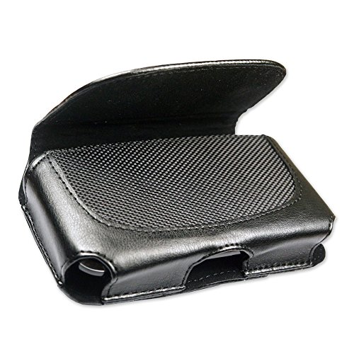 Fenzer Black Leather Case Pouch for Samsung a177 a257 Magnet a797 Flight a867 Eternity t499 Dart t729 Blast t929 Memoir u640 Convoy (Samsung Dart Case compare prices)