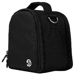 VanGoddy Laurel DSLR Camera Carrying Handbag for Olympus E-5 / E-600 / E-450 / E-620 / E-30 / E-420 Digital SLR Cameras + Screen Protector + Tripod Stand (Black)
