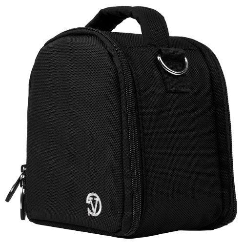 VanGoddy Laurel DSLR Camera Carrying Handbag for Nikon D5500 / D810A / D7200 / D750 / D810 / D4s / D3300 / Df / D5300 / D610 / D7100 Digital SLR Cameras + Screen Protector + Tripod Stand (Black)