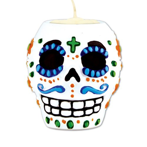 Day Of The Dead Male Tea Light Holder - 1