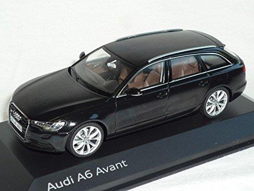 Audi-A6-A-6-C7-C-7-Avant-Ab-2011-Phantom-Schwarz-143-Schuco-Modell-Auto-Modellauto