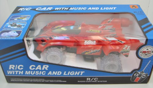 Remote Control CHAMPIONS RACING CAR WITH MUSIC AND LIGHT - Drive Rider - RED