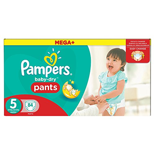 Pampers Mega Plus Baby-Dry Pants, Mega + Pack - Size 5, Pack of 84