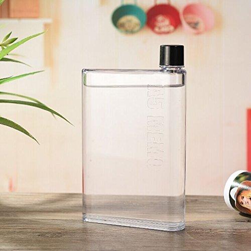 Portable Bottle A5 Paper Bottle Transparent Flat Water Cup New Design 420 ml