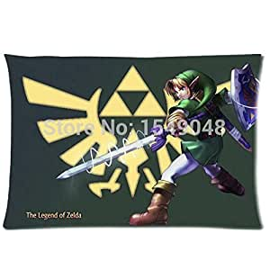 legend of zelda coque motif cool skull parure de lit 2 taies d 39 oreiller de taille standard pour. Black Bedroom Furniture Sets. Home Design Ideas