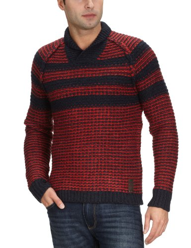 Replay UK2181 Men's Jumper Red/Navy XX-LargeXX-LargeReplay UK2181 Men's Jumper Red/Navy XX-LargeUK2181.000.G20930.791    XXL