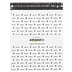 Amazon.in Branded Economy Polybag with Document Pouch (Size -16 Inches X 14 Inches, Count - 100 Polybags)