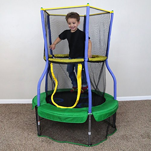 Skywalker-Trampolines-40-In-Round-Lily-Pad-Adventure-Bouncer-with-Enclosure