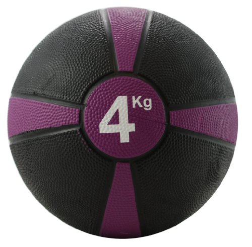Fitness-Mad Apollo Medicine Ball - 4kg - Purple Stripe