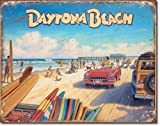 Daytona Beach Tin Sign 16 x 13in