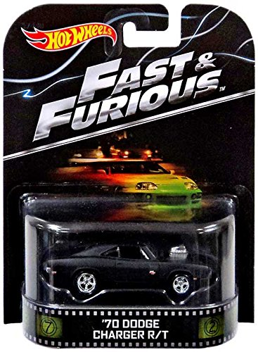 """'70 Dodge Charger R/T """"Fast & Furious"""" Hot Wheels 2014 Retro Series Die Cast Vehicle"""