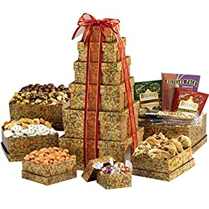 Broadway Basketeers Valentine's Day Gourmet Gift Tower