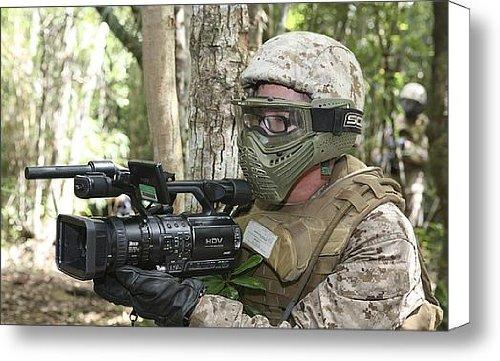 U.S. Marine Videotapes Combat Exercises