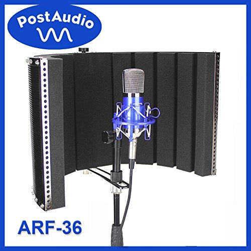 Post Audio ARF-36 Foldable Reflection Filter and Portable Vocal Booth with Carrying Bag. Studio Sound Anywhere, Anytime. (Sound Booth Portable compare prices)