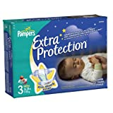 Pampers Extra Protection Size 3 Diapers Jumbo Pack 31 Count (Pack of 4)